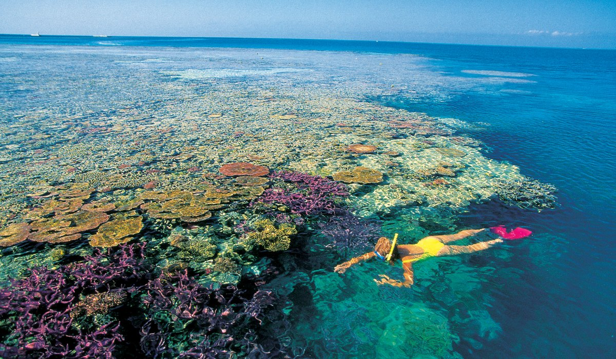 Great Barrier Reef and Whitehaven Beach,Australia
