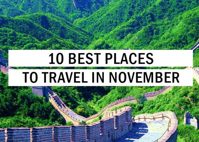 10 Best Places to Travel in November