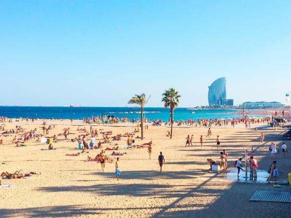 Spend Your Break At The Beach In Barceloneta